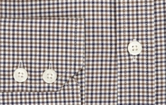 Men's BROWN & BEIGE MULTI CHECK EXTRA SLIM FIT SHIRT   - 1