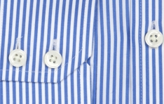 Men's WHITE & BLUE STRIPE SLIM FIT BUSINESS SHIRT  - 1