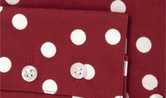Women's Ladies Red and White Milly Spot   - 1